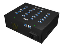 20 PORTS USB 3.0 HUB with  Internal Power supply  for mobile device refurbishing and recycle