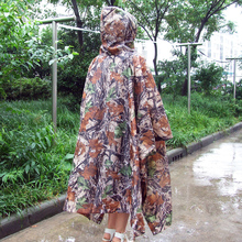 3 in1 Portable Outdoor Rain Cover Camouflage Lightweight Waterproof Mat Travel Rain Poncho Backpack Rain Covers Gear Tent Awning(China)