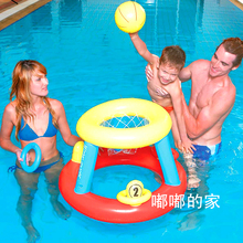 Summer Hot Water Sports Inflatable Toys Balls Kids Toy Floating Basketball Football Volleyball with Pump Beach Party Water Games
