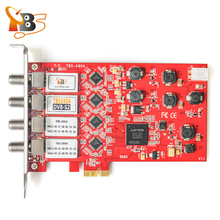 Quad tuner card TBS6904 DVB-S S2 Quad Tuner PCIe Card for Watching and Recording Digital Satellite FTA TV Channels on PC(China)
