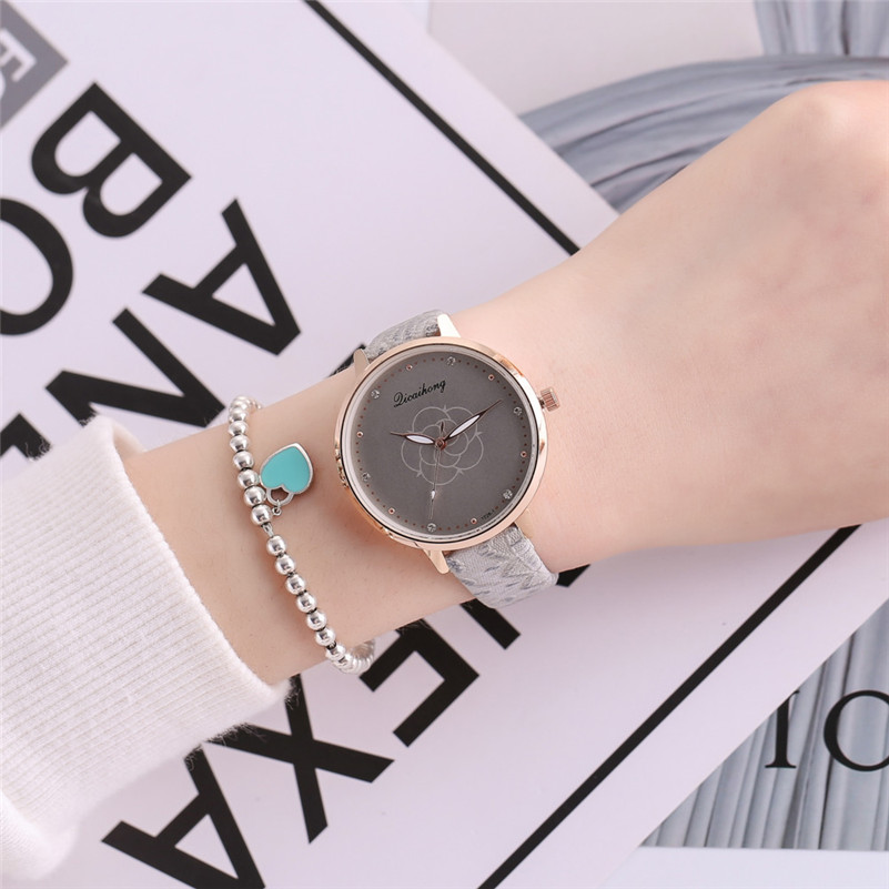 High Quality women fashion casual watch luxury dress ladies Leather Band Analog Quartz Round Wrist Watch clock bracelet M21 (19)