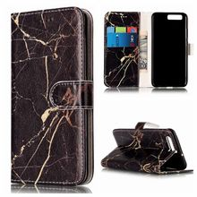 For Huawei P10 Lite Case Granite Marble Flower Skin PU Leather Magnetic Stand Phone Cases For Huawei P10 P9 P8 Lite 2017(China)