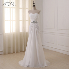 ADLN Wedding Dresses Sweetheart Sleeveless Vestidos de Noiva Sexy Sweep Train Summer Beach Bridal Gowns Plus Size In Stock(China)