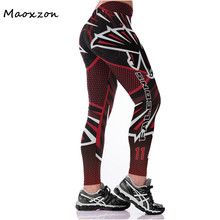 Buy Maoxzon Womens 3D Digital Print High Waist Sexy Fitness Slim Leggings Plus Size Elastic Workout Active Skinny Pants Female for $10.19 in AliExpress store