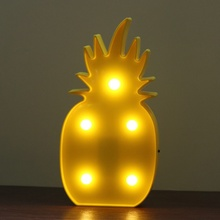 3D Flamingo Pineapple Cactus Night Light Plastic LED Lamp Lights Kids Room Bedroom Bedside Lamp Party Wedding Home Decoration