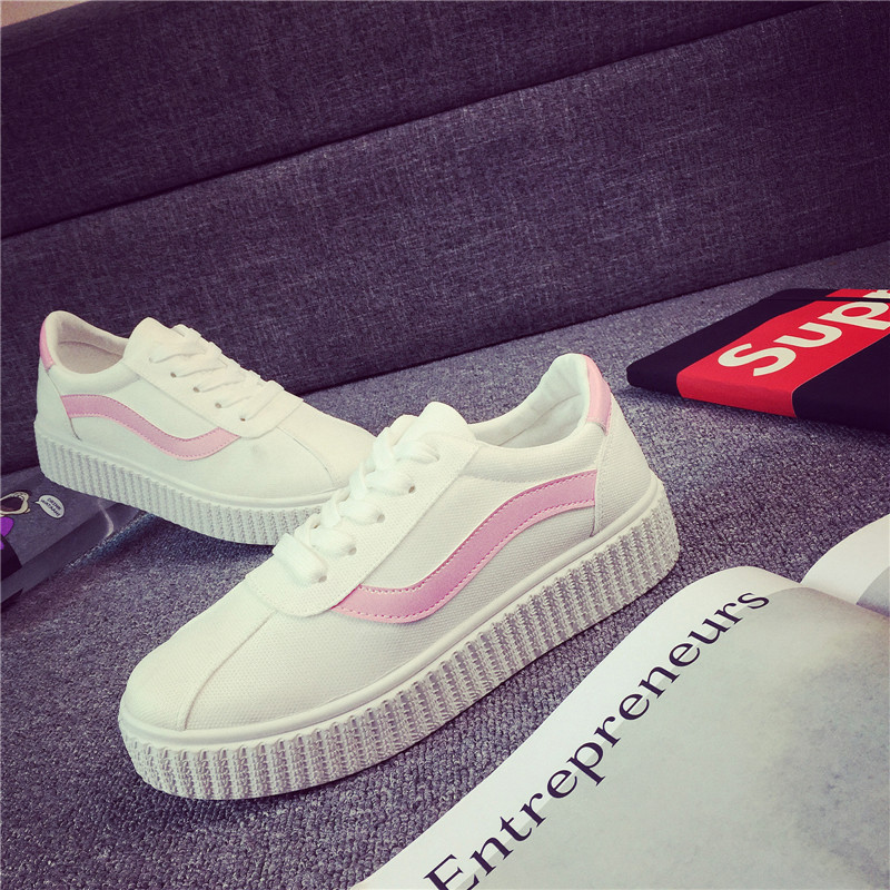 Spring Autumn Lady shoe Good Quality New Style Solid PU leather Platforms Lace-UP Womens Casual Shoes Women 4Colors<br><br>Aliexpress