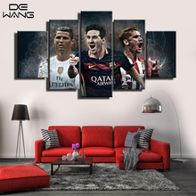 World Cup Barcelona Atletico Madrid 5 Piece Modern Painting Frame Football Wall Art Canvas Picture For Living Room Home Decor
