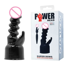Baile Power Head Realistic Dildo Super Dong Wand G-Spot Magic Wand Attachment Headgear for Magic AV Wand Vibrator Sexy Toys(China)