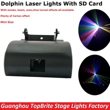 NEW Design 1W RGB Full Color Dolphin Laser Lights With SD Card For Xmas Party Show Club Bar Pub Wedding Halloween Decorations
