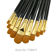 New 10 piece/set best quality nylon hair paint brush gouache watercolor brush oil painting acrylics brush art supplies Pen