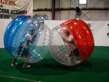 Free shipping! Half color 1.2m  0.8mm PVC the soccer buble,giant inflatable balls,big inflatable balls on sale