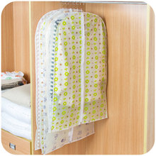 Transparent printing waterproof clothing coat dust cover clothes hanging pocket suit dust bag