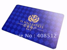 free shipping 0.38mm untransparent pvc business cards full color printed both sides(China)