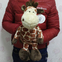 Free shipping 35cm=13.8inch Wild Friends Jungle NICI Giraffe Stuffed Animals Soft Toys Plush Doll For Girl Friend/Children gift