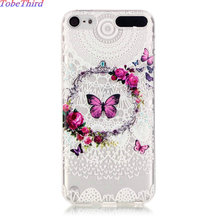 TobeThird For iPod Touch 5 Case Soft Embossed TPU Gel Shell Phone Back Cover Case For iPod Touch 5 & Touch 6