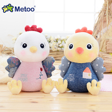 Metoo Cartoon Chicken Doll Stuffed Toys Plush Doll Home Sofa Office Car Decoration Cute Kids Children Girlfriend Birthday Gift(China)