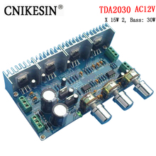 CNIKESIN diy Kkits TDA2030 2.1 channel amplifier power amplifier board parts kit sound X 15W 2, Bass: 30W