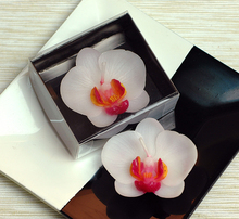 Lovely phalaenopsis candle wedding valentine's day party favor children gift present christmas