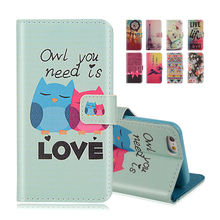 For iphone SE Wallet Style Flip Case with Cute OWL Print For Apple iphone 5 5S 5G Stand PU Leather Cell Phone Protective Cover(China)