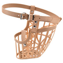 1PCS New 7 Sizes High Quality Plastic Dogs Muzzle Basket Design Anti-biting Adjusting Straps Mask For Pet Supplies