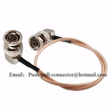 HD SDI Video Cable BNC Elbow Plug To BNC Elbow Plug Male RF Coaxial RG179 Cable for BMCC Blackmagic Camera Straight Elbow BNC