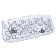 Office 108 Keys USB Wired Game Keyboard Fashion White Home Matte Feel Surface Computer Gaming Keypad for HP Lenovo ASUS Laptop