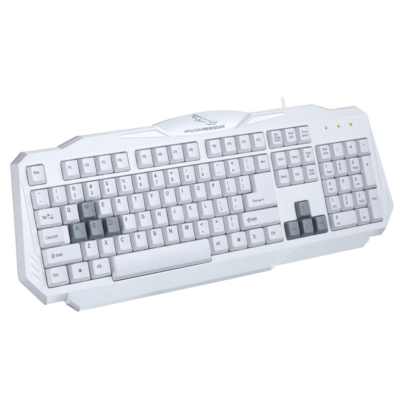 Office 108 Keys USB Wired Game Keyboard Fashion White Home Matte Feel Surface Computer Gaming Keypad for HP Lenovo ASUS Laptop(China (Mainland))