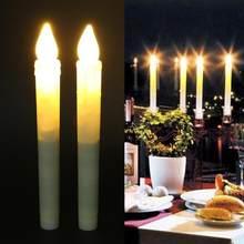 2 pcs Cintilação Sem Chama LEVOU Luz de Velas Eco Home Velas Decorativas  Velas de Aniversário a6abad8d979