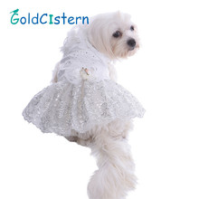 Pet Dog Clothes Dresses Skirts Puppy Kitten Marry Costumes married Wedding dress Party Princess Lace Clothes for Doggy Kitty