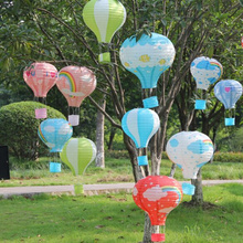 "10"" 25cm 10PCS Rainbow Hot Air Balloon Paper Lantern Paper Chinese Wishing Lantern Fire Sky lantern for Birthday Wedding Party"