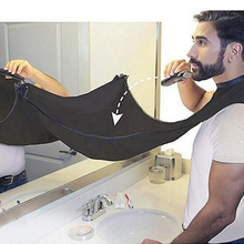 Hot Men's Bath Apron Black Beard Trimmer Care Hair Shaving Apron For Men Waterproof Floral Maid Cloth Protective Gloves(China)