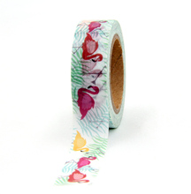 Japanese Paper Animal Swan Washi Tape Paper Masking Tapes Adhesive Tapes Stickers Stationery Supplies Wholesale(China)