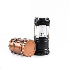 Portable Outdoor LED Camping Lantern Solar Collapsible Light With US Plug Emergency For Outdoor Lighting(China)