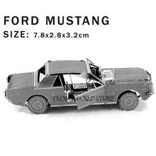 New creative Ford Mustang 3D puzzles 3D metal model DIY Vintage sports car Jigsaws Adult/Children gifts toys Real details Etc.(China)
