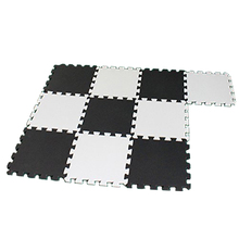 HGHO-Good Baby EVA Foam Play Puzzle Mat/10pcs/lot Interlocking Exercise Tiles Floor Mat for Kid,Each 30cmX30cm White and Black
