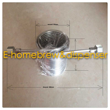 15meters  Stainless Steel Coil 5' Diameter beer coil cooler for your homebrew make jockey with 5/8'G connectors