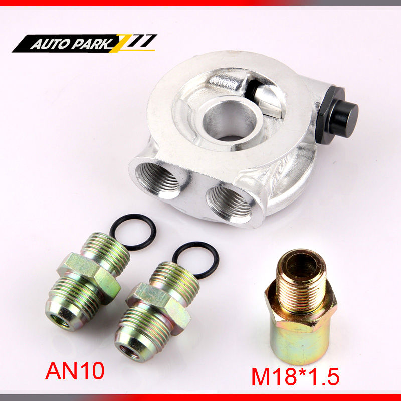 auto universal AN10 Oil Cooler thermostat plate,oil sandwich plate,m18x1.5 oil filter adapter