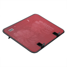 "Super quiet Laptop Cooler Cooling Pad Base USB 2 Fans Stand for 10"" to 14"" Notebook(China)"