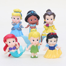 (1 set= 6pcs) High Quality PVC Princess Tinkerbell doll toy 6 pcs Collection Figure(China)