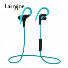 Larryjoe 2017 Stereo Ear Hook Bluetooth Earphone Wireless Sport Headphone Headsets With Micphone Handsfree for iPhone Samsung(China)