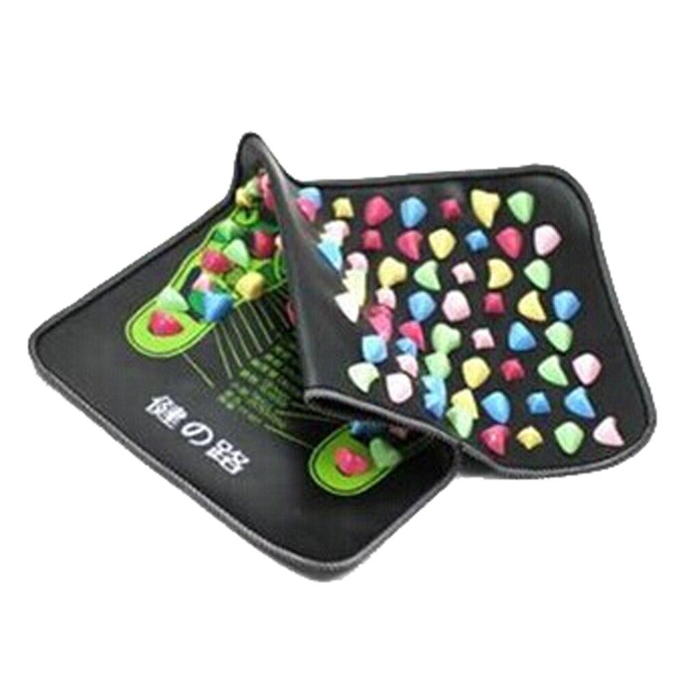 70*35cm Colorful Plastic Foot Massager Cushion Pad Acupuncture Cobblestone Yoga Mat<br><br>Aliexpress