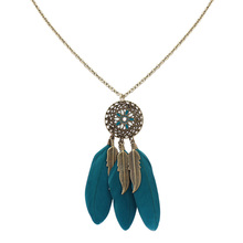 Jewelry Necklace,fantasies for womens, Feather, with Zinc Alloy, antique bronze plated, 70cm, Sold Per Approx 27.5 Inch Strand
