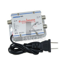 220V 2 Output SB-8620D2 CATV Amplifier 20 db Cable TV Signal Amplifier Splitter 45-860MHz Free Shipping