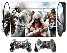 COOL Assassina Creed Design Skin Sticker for PS3 4000 Slim PlayStation 3 Skin Stickers PVC Console 2 Pads Skins(China)