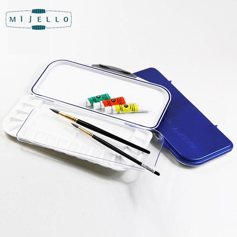 Korean Mijello FUSION 18 Airtight/Leak-Proof Watercolor PaletteSquare Color Mixing Box Drawing Tools Art Supplies MWP-3018<br>