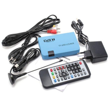 Blue High Quality Useful High Quality Hot Brand New Pro Digital TV Box LCD VGA/AV Tuner DVB-T FreeView Receiver Great New 2016