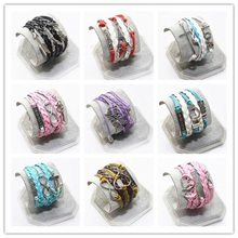 Charm of the Vintage of Multiple Layers Leather Bracelet of the Charm of the Owl Women Cruz Believe Bracelets Cheap Jewelry Lady(China)