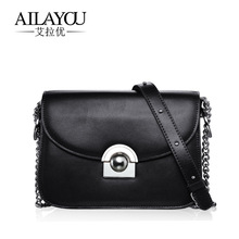 2017 new handbag leather Crossbody Bag Chain Leather Shoulder Bag Small peppers on behalf of distribution
