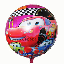 TSZWJ I-015 New 18inch cartoon pet car round aluminum balloons balloon wholesale and retail children's toys(China)