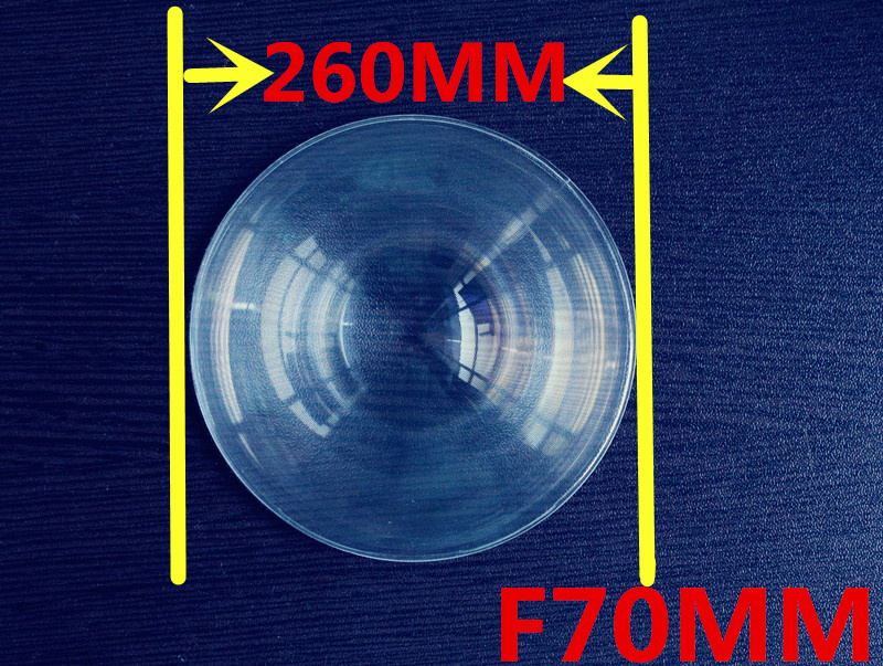 short Focal length 70mm Fresnel lens Diameter 260mm  Round  Fresnel Lens   thickness 2mm circle lens for DIY Free shipping<br><br>Aliexpress